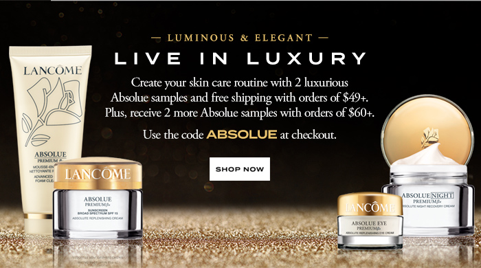 LIVE IN LUXURY - SHOP NOW