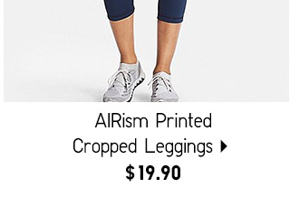 AIRism Printed Cropped Leggings - Shop Women