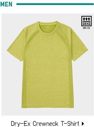 DRY-EX Crewneck T-Shirt - Shop Men