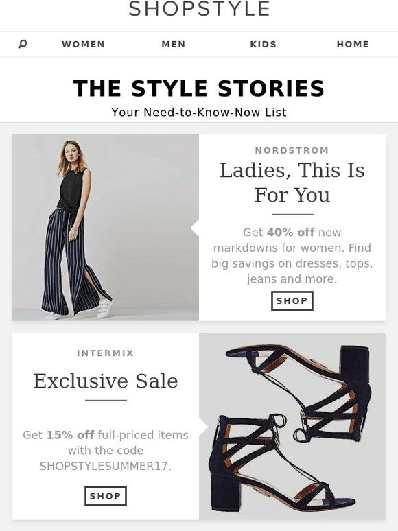 uk availability c7d6a 33eff ShopStyle  Sales At Nordstrom, Intermix, And More   Milled