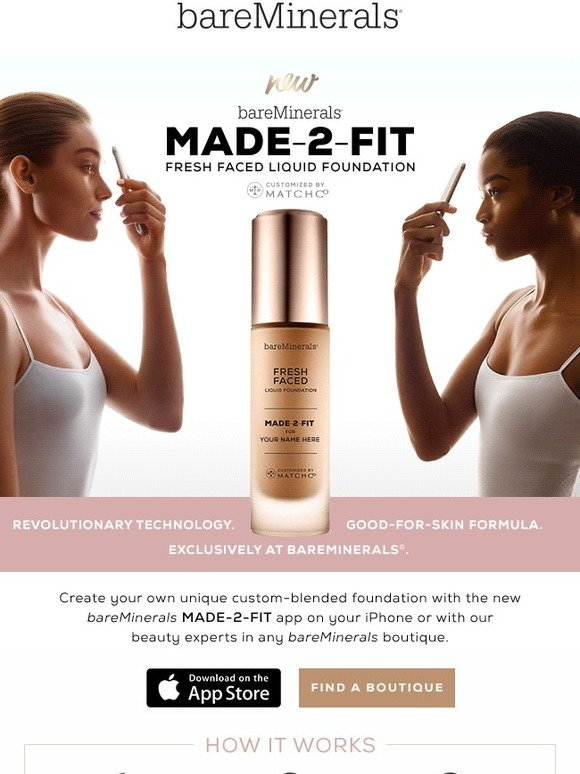 bareMinerals: New: MADE-2-FIT Custom-Blended Foundation | Milled