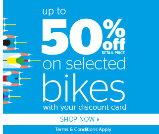 Up to 50% off selected bikes