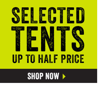 Selected tents up to half price