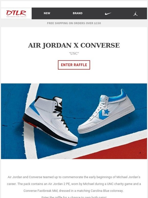 e539d4b1d5f8c7 DTLR (Down Town Locker Room)  Air Jordan x Converse 👟 ⭐
