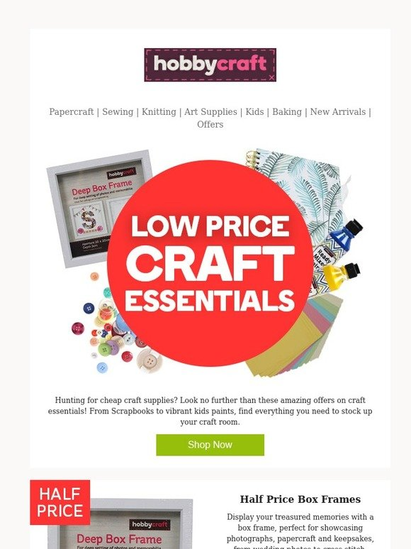 Hobbycraft Craft Essentials At Fantastic Low Prices Milled