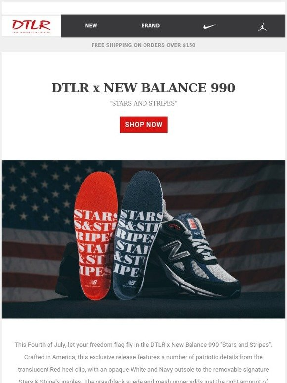 super popular 5f9ef 0ea97 DTLR (Down Town Locker Room): DTLR x New Balance 990 Stars ...