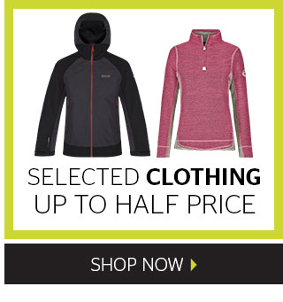 Up to half price selected clothing
