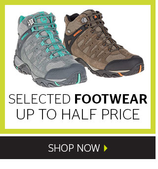Up to half price selected footwear