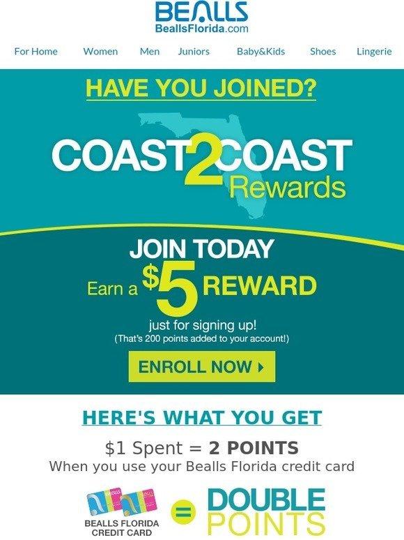 Bealls Florida Have You Joined Coast2coast Rewards Milled