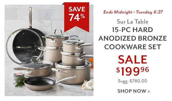 Sur La Table 15-PC Hard Anodized Bronze Cookware Set - SAVE 74%  sc 1 st  Milled & Sur la Table: FLASH SALE\u2014Cookware Deals up to 74% OFF | Milled