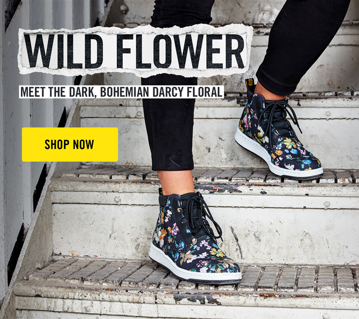 Dr. Martens Darcy Floral Telkes Boot faId8