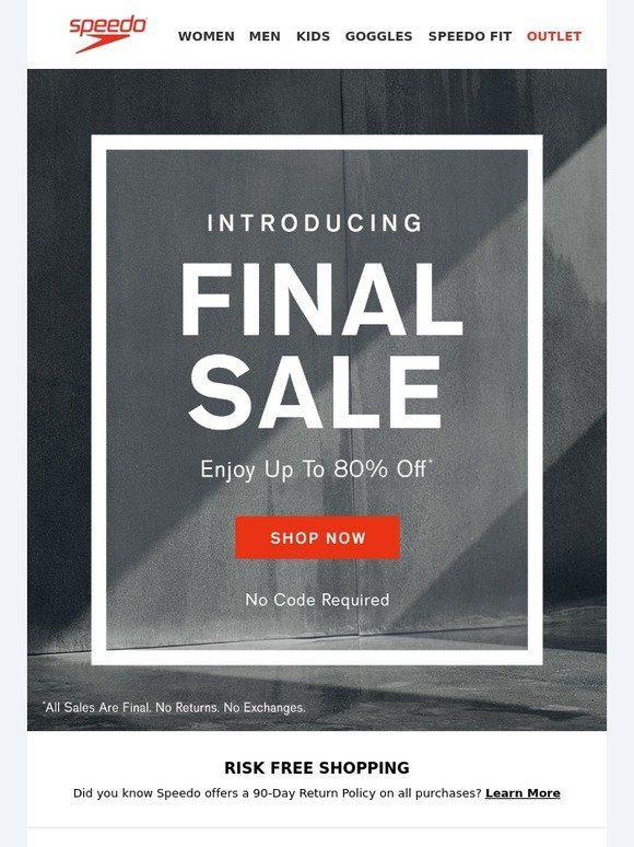 Speedo USA: Introducing FINAL SALE, Now Up To 80% Off | Milled