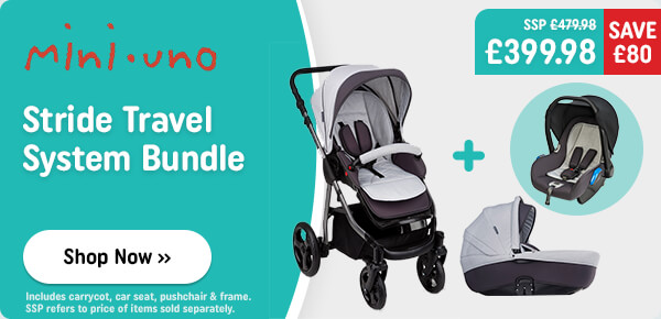 Mini Uno Stride Travel System Bundle