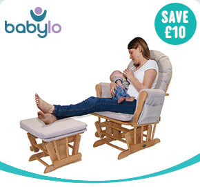 Babylo Glider Chair and Footstool Honey Dew