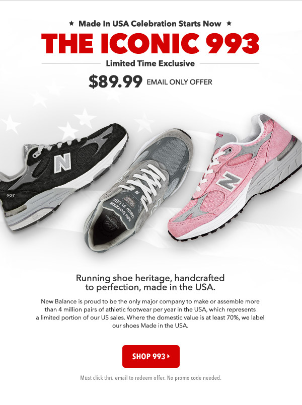 Joe's New Balance Outlet: Email Only! $89.99 - Iconic 993 Markdown ...