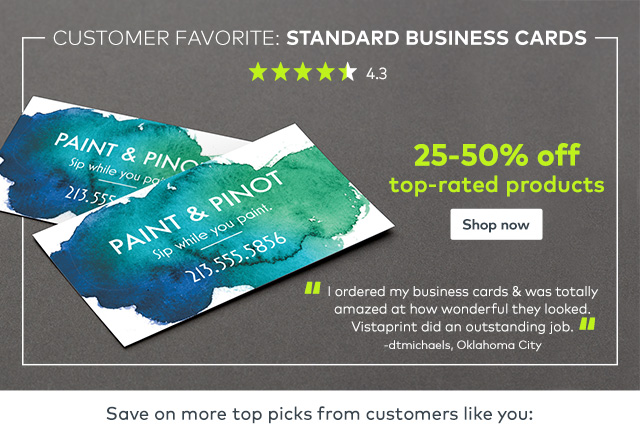 Vistaprint you reviewed we listened save on business cards and vistaprint you reviewed we listened save on business cards and more milled colourmoves