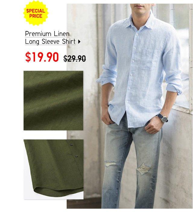 01e4d19db94 Premium Linen Long Sleeve Shirt - Weekly Promo - Shop Men