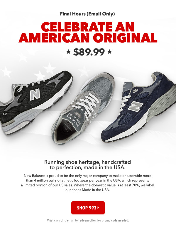 Final Hours - Email Only - The Iconic 993. Running shoe heritage,  handcrafted to