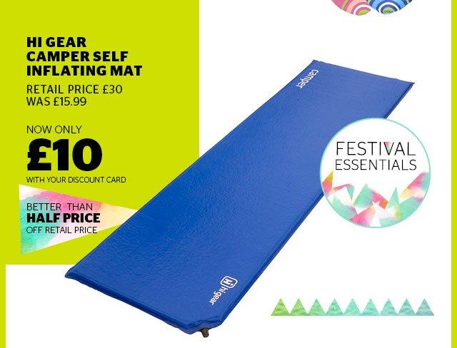 Hi Gear Camper Self Inflating Mat