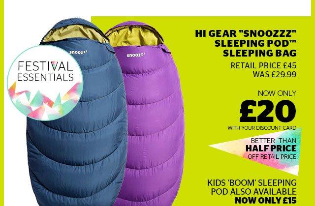 """Hi Gear """"Snoozzz"""" Sleeping Pod™ Sleeping Bag"""