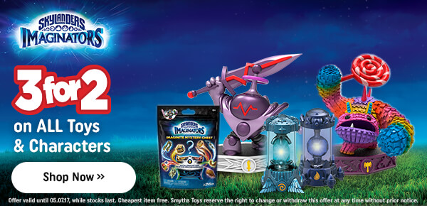 Skylanders Imaginators - 3 for 2 on All Toys and Characters