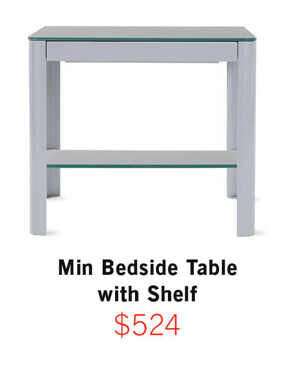 Min Bedside Table with Shelf