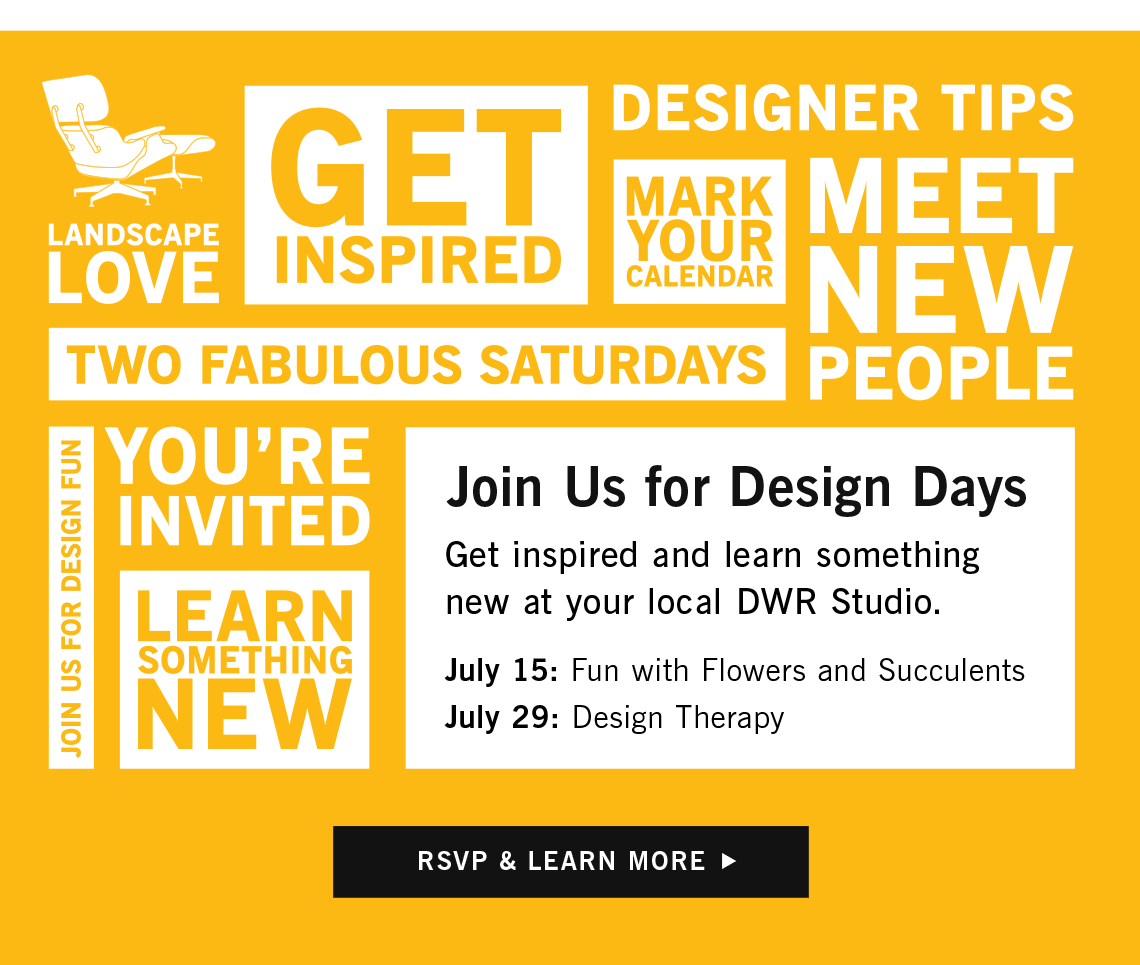 Design Days, RSVP and Learn More