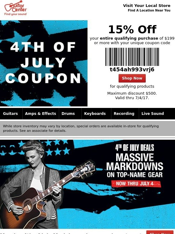 See the Guitar Center Black Friday ad at shopteddybears9.ml Find the best Guitar Center Black Friday deals and sales here. If you want to see the best Black Friday deals from Guitar Center and other great retailers, keep checking shopteddybears9.ml Google Pixel 3 Cyber Monday Deals Nov 23, We're Calling It: 4/4().