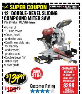 harbor freight miter saw. double-bevel sliding compound miter saw with laser guide system harbor freight s