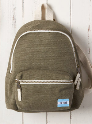 Olive Canvas Vivian Mini Backpack