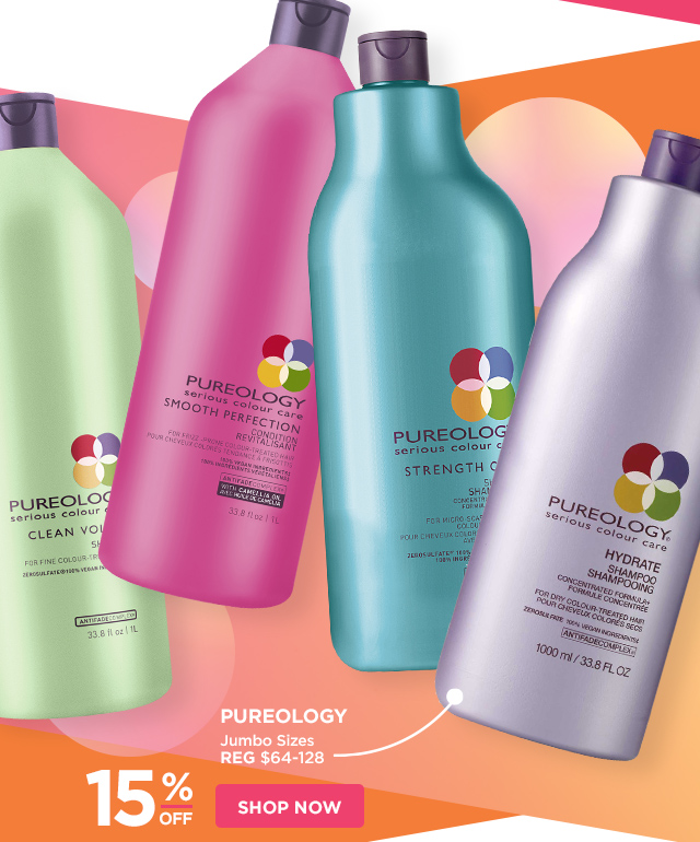 PUREOLOGY | Jumbo Sizes 15 Percent Off