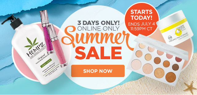 SUMMER SALE | Starts Today, ends July 4, online only!