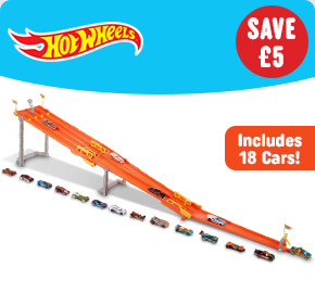 Hot Wheels 4 Lane Raceway with 18 Cars