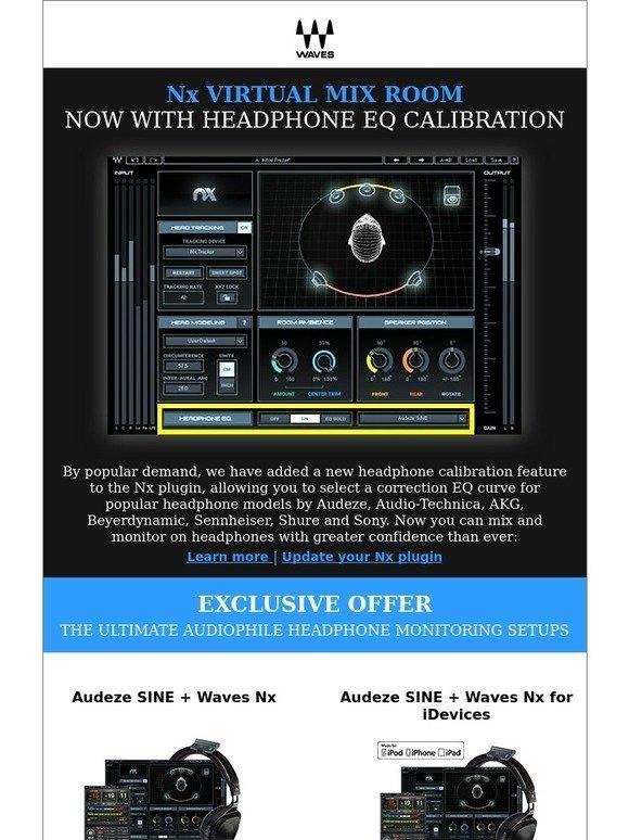 Waves Audio: Nx plugin – now with headphone EQ calibration