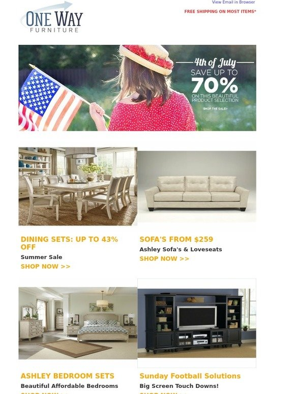 Onewayfurniture Com Email Newsletters Shop Sales Discounts And Coupon Codes Page 3