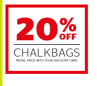 20% Off Chalkbags