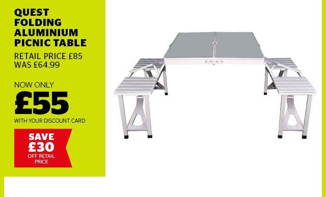 Quest Folding Aluminium Picnic Table