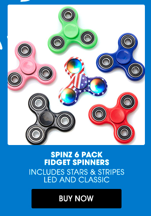 SPINZ 6 PACK FIDGET SPINNERS | BUY NOW