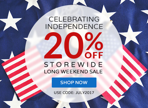 Don't Forget: 20% OFF July 4th Savings. Hurry Before It's Gone.