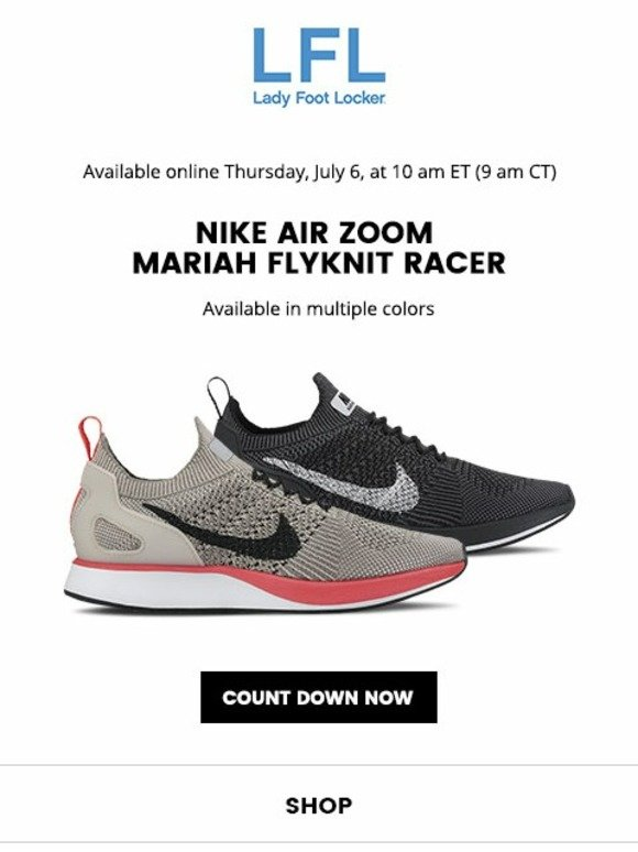flyknit racer footlocker discount code