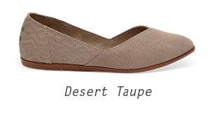 Desert Taupe Suede Diamond Embossed Women's Jutti Flats