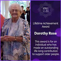 Dorothy Rose - Lifetime Achievement Award winner