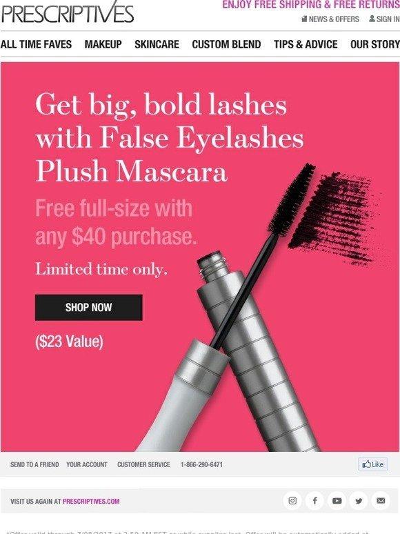 Prescriptives Create Incredible Volume With False Lash Mascara