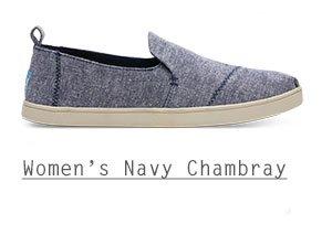 Navy Slub Chambray Women's Deconstructed Cupsole Alpargatas