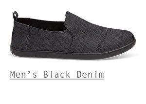 Black On Black Denim Men's Deconstructed Alpargatas