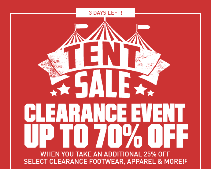 IN-STORE AND ONLINE | TENT SALE | CLEARANCE EVENT UP TO 70% OFF  sc 1 st  Milled & Dicku0027s Sporting Goods: Going Going...Our Tent Sale Clearance ...
