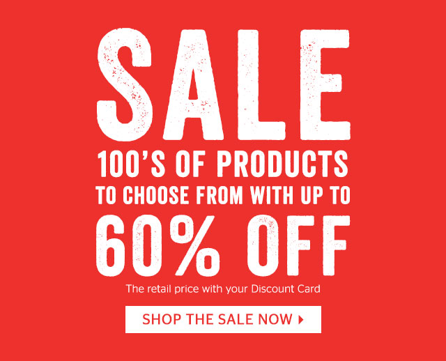Sale - 100s of products up to 60% off retail price