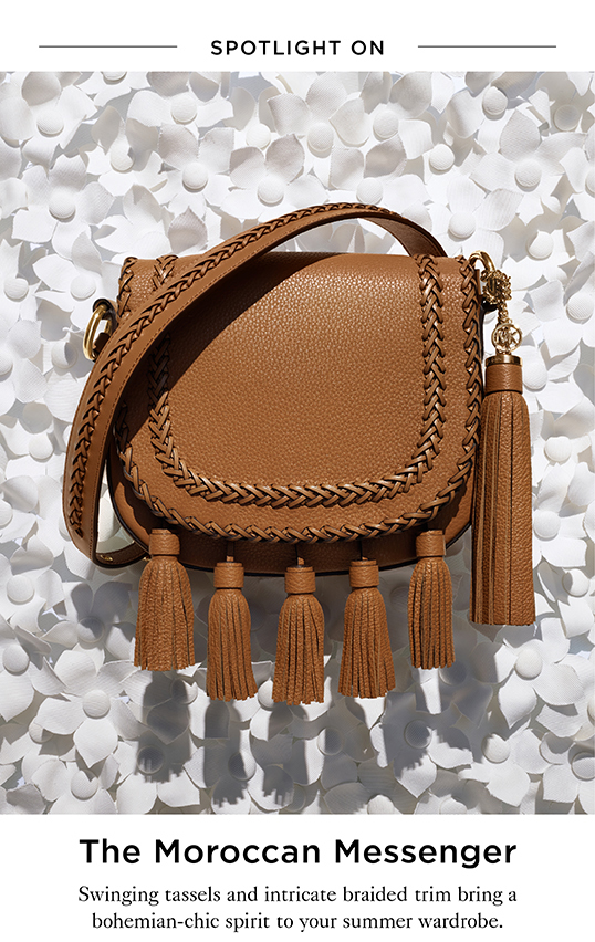 Michael Kors Spotlight On The Moroccan Crossbody Milled
