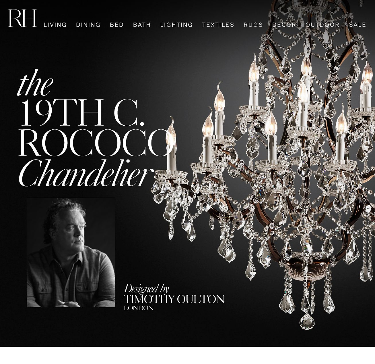 Restoration hardware the 19th c rococo chandelier designed by the 19th c rococo chandelier mozeypictures Gallery