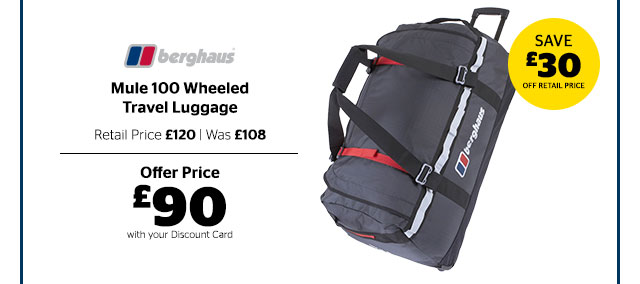 Berghaus Mule 100 Wheeled Travel Luggage